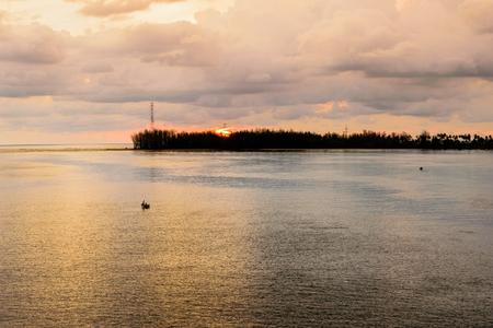 phuket province: Viewpoint Andaman Sea at sunset from Sarasin Bridge in Phuket Province, Thailand