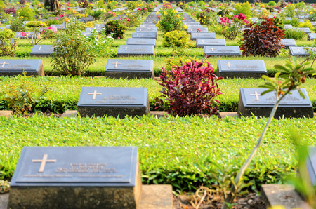 allied: Kanchanaburi War Cemetery (Don Rak) is the historical monuments of allied prisoners of the World War II who died during the construction of the Death Railway in Kanchanaburi Province, Thailand