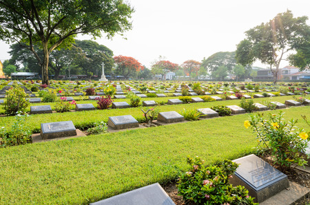 world war ii: Kanchanaburi War Cemetery (Don Rak) is the historical monuments of allied prisoners of the World War II who died during the construction of the Death Railway in Kanchanaburi Province, Thailand