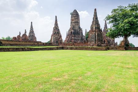 Wat Chaiwatthanaram is een oude boeddhistische tempel, beroemd en belangrijk toeristisch aantrekkelijk religieus van Ayutthaya Historical Park in Phra Nakhon Si Ayutthaya Province, Thailand Stockfoto