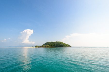 Beautiful nature landscape of blue sea and sky in summer at Koh Tae Nai small island near Ko Pha Ngan in Gulf of Thailand is a famous attractions of Surat Thani province, Thailand Stock Photo