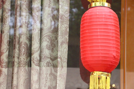 gules: Red lanterns for Chinese New Year Stock Photo
