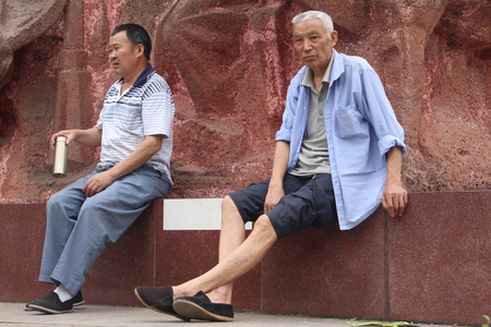 old people: Two old people