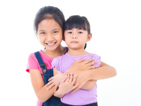lovely: lovely asian sisters hugging
