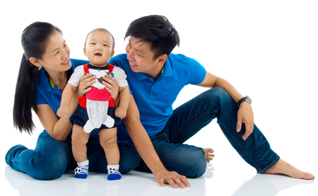 asian adult: Portrait of asian family Stock Photo