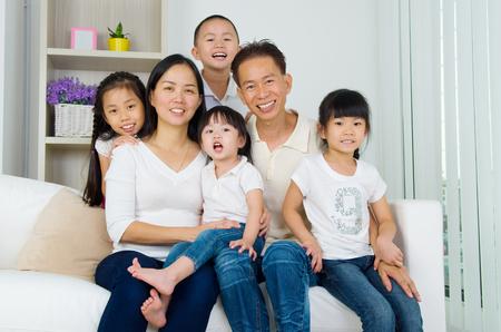 Portret van de familie van de Aziatische