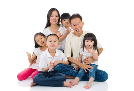 japanese people: Portrait of asian family Stock Photo