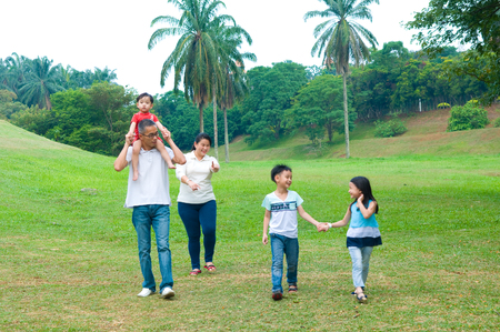 family outing: asian family outing