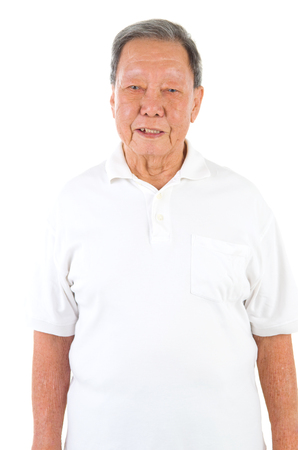 koreans: happy asian senior male smilling in the studio