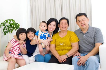 3 generations: Beautiful asian 3 generations family