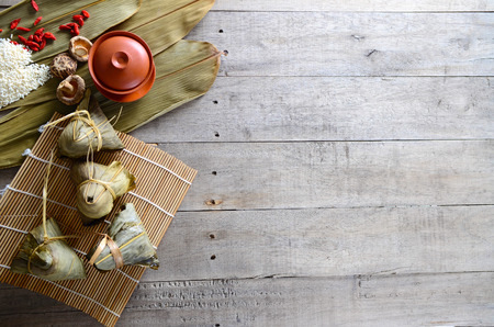 Asian Chinese Rice Dumpling, Zongzi Stock Photo
