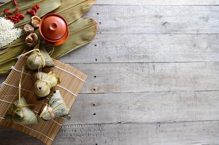 Asiatischer chinesischer Reiskloß, Zongzi