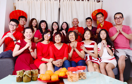 Asian family celebrate chinese new year Stockfoto - 110741124