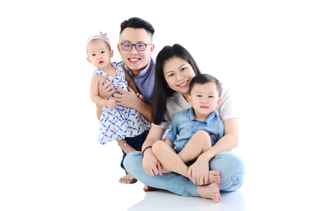 Portrait of asian family 版權商用圖片