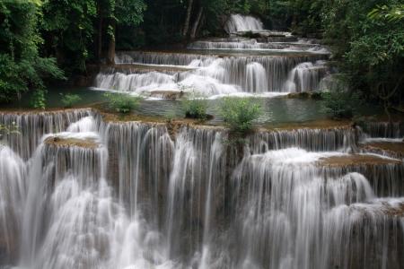 Huai Mae Khamin Waterfall in Kanchanaburi, Thailand Stock Photo - 23207909