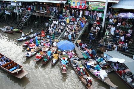 march� flottant: Ampawa March� flottant en Tha�lande Editeur