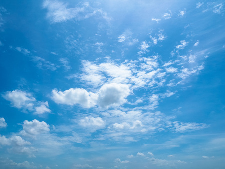 heaven: The fluffy cloudy in the blue sky Stock Photo