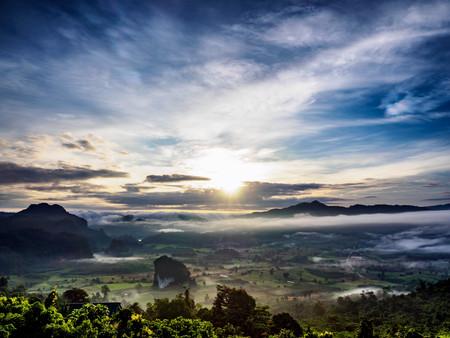 View Point of Cliff top land at Phu Lang Ka, Phayao, Thailand Kho ảnh