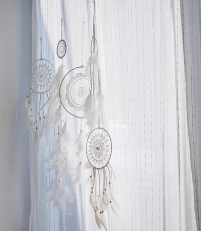 Dream Catcher decorated in the room by white tone style