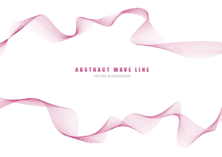 Abstract wave lines with red wine color in the white background. Curved wavy line by created using blend tool. Vektorové ilustrace