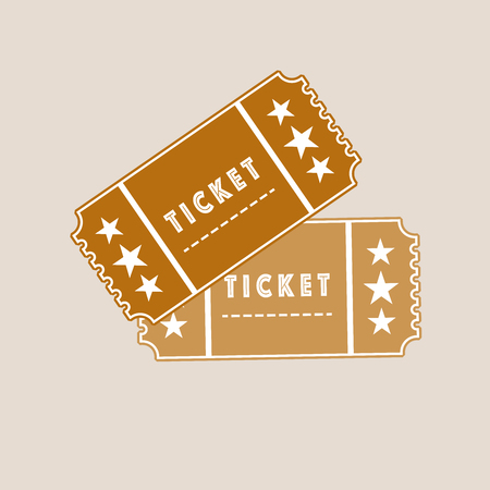 a pair of ticket in the flat icon style. vector illustration Banque d'images - 125206447