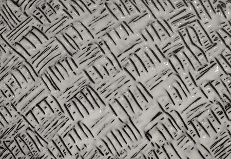 Abstract pattern liquid white On a black background Standard-Bild
