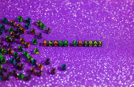 Black Friday, with bokeh background, purple tone.