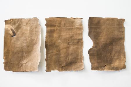 Blank old paper on a white background. Reklamní fotografie
