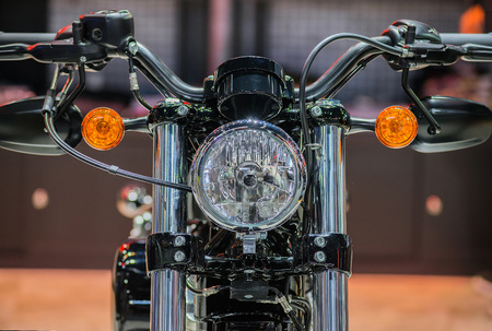 Beautiful motorbike front, headlights and round turn lamps, perfect design and stylish.