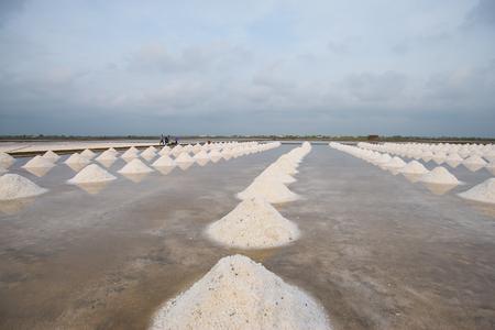 Salt heap lots.