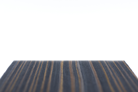 Perspective display pattern wood flooring with natural, empty space. The white background is blank. Stock Photo