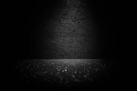 Blurred images of, black backgrounds with sparkling floors Imagens