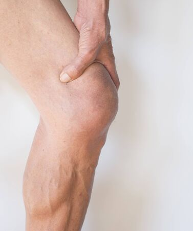 Leg muscles at the knees of older men with inflammation and pain