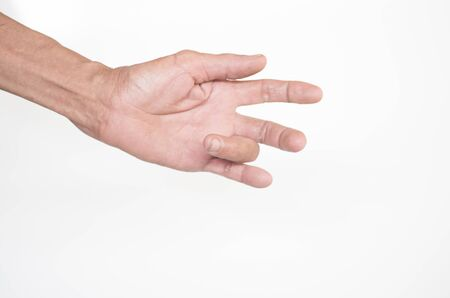 The muscles and joints of the fingers of the elderly men with inflammation and deformity Фото со стока