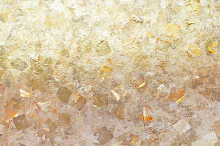 gold metal plate texture spreading on empty space Stockfoto