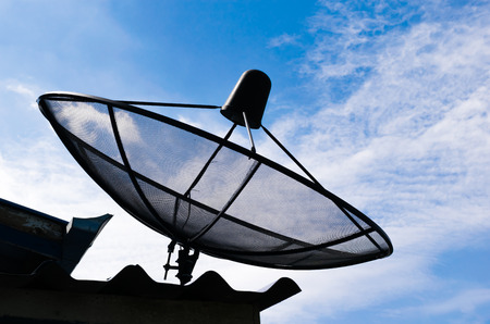 housetop: Satellite dishes on housetop