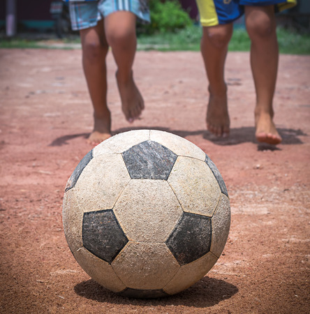 children play: The children to play football
