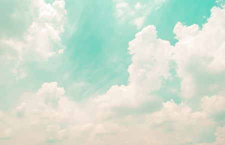 Retro sky and clouds, Soft  Blur for background Banco de Imagens