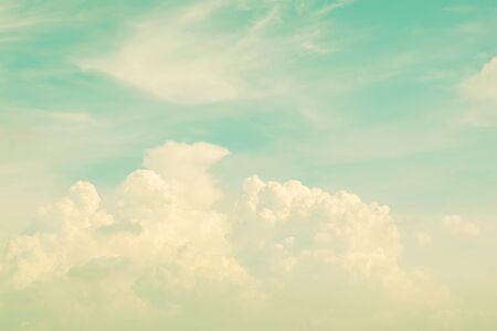 Soft & Blur Retro sky and clouds for background Banco de Imagens