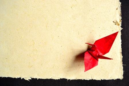 uccello origami: giapponese origami uccello rosso