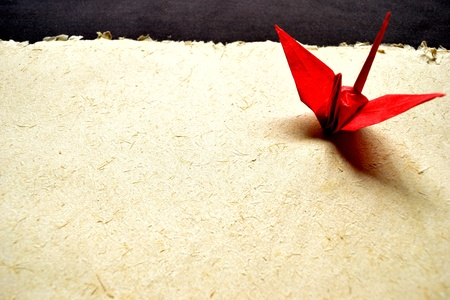 uccello origami: origami giapponese red bird