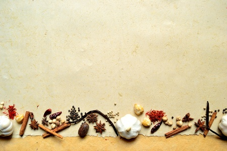 garlic and spices 写真素材