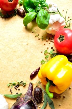 野菜とハーブ 写真素材