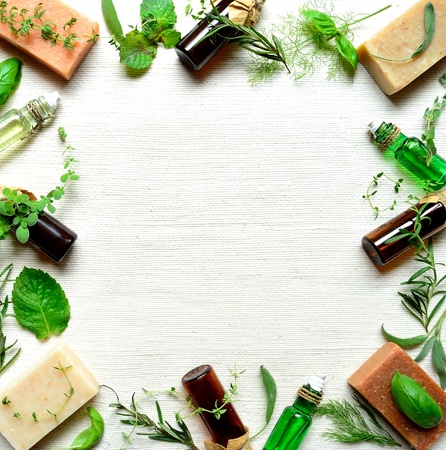 aromatherapy and herbal products Stock Photo - 10178758