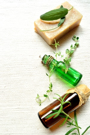 aromatherapy and herbal products photo