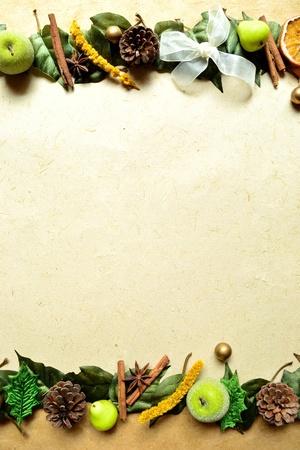 フルーツと spice.frame.Christmas のイメージ。