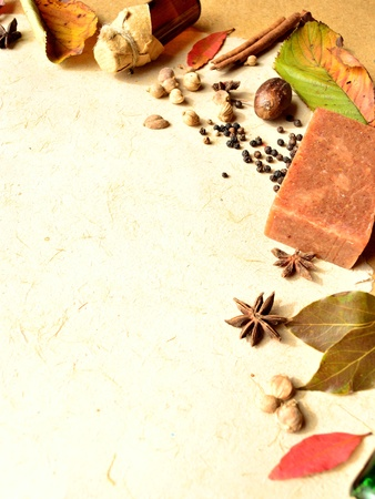 leaves and spices and aromatherapy