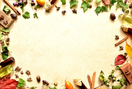 autumn leaves and aromatherapy