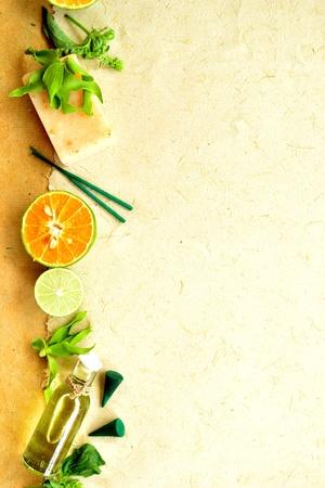citrus fruits and aromatherapy Stock Photo