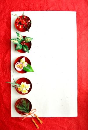 chun: japanese winter flowers. Stock Photo